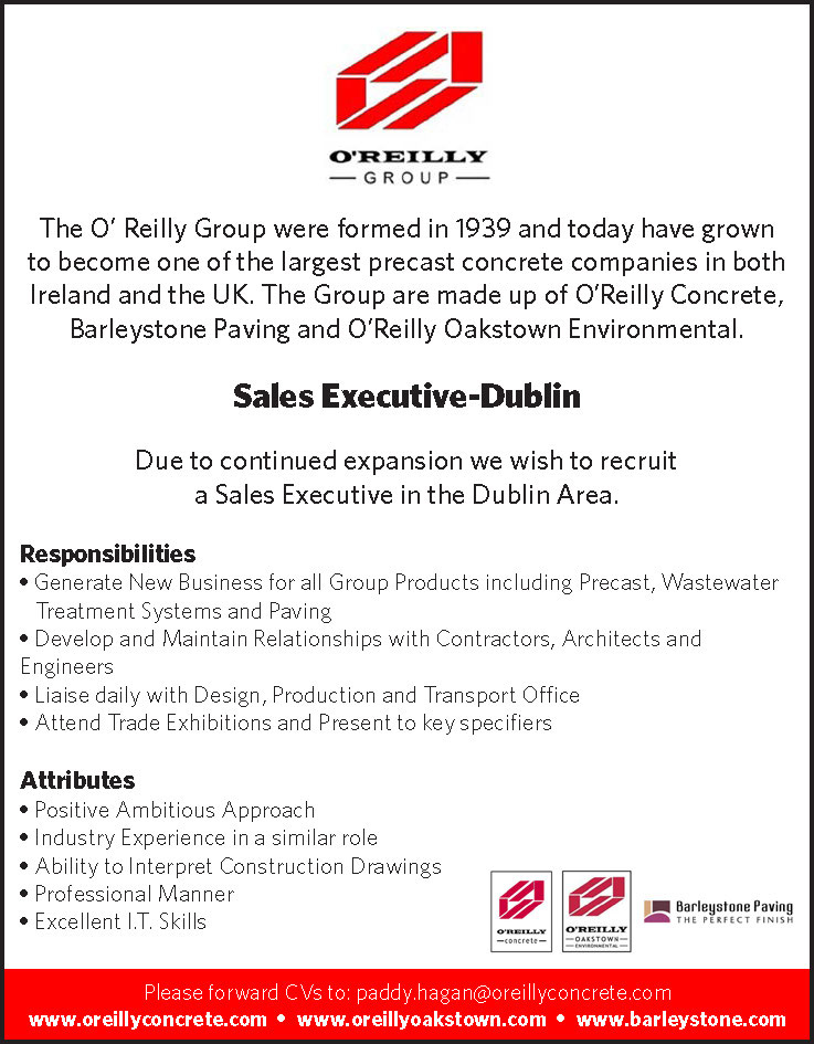 Recruitment Notice - Sales Executive Required for Dublin Area