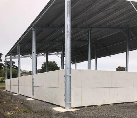 Prestressed Wall panels for cattle shed