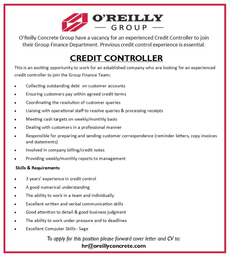 Careers - O\' Reilly Concrete - Current Vacancies - Information